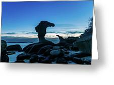 Seaside Rock Formations At Daybreak Greeting Card