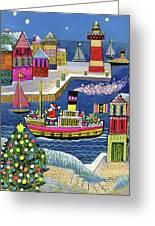 Seaside Santa Greeting Card