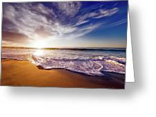 Seaside Sunset Greeting Card