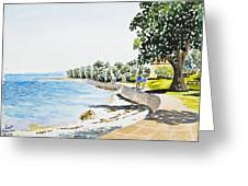 Seaside Town Greeting Card