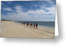 Seaside Walk Nosy Ve Madagascar Greeting Card