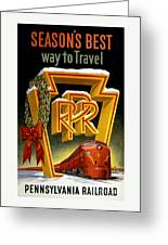 Seasons Best Way To Travel Vintage Poster Greeting Card