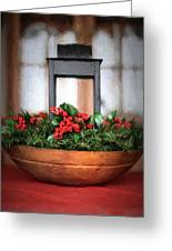 Seasons Greetings Christmas Centerpiece Greeting Card