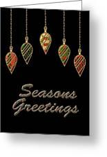 Seasons Greetings Merry Christmas Greeting Card