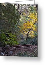 Romantic Autumn Rendezvous Greeting Card
