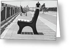 Seat On The Pier Greeting Card