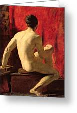 Seated Male Model Greeting Card by William Etty