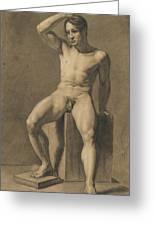 Seated Male Nude Greeting Card
