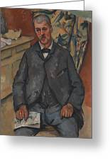 Seated Man  Greeting Card