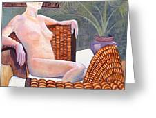 Seated Nude Greeting Card by Don Perino