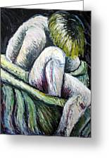 Seated Woman Abstract Greeting Card