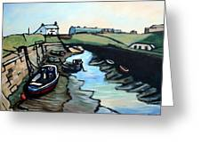 Seaton Sluice Harbour Greeting Card