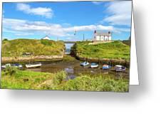 Seaton Sluice Harbour Greeting Card