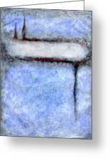 Seattle Afternoon Abstract Greeting Card