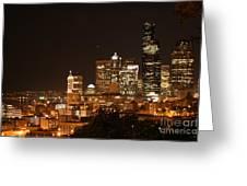 Seattle At Night Greeting Card