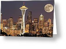 Seattle Full Moon Greeting Card