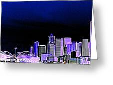 Seattle Blue 2 Greeting Card