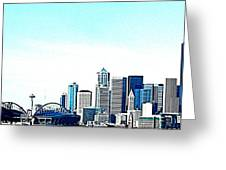 Seattle Blue Greeting Card