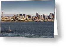 Seattle By Sea Greeting Card