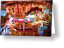 Seattle Carousel Horse Greeting Card