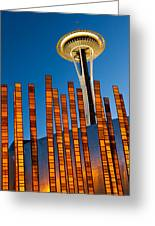 Seattle Center Twilight Greeting Card