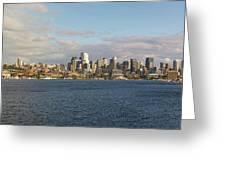 Seattle City Skyline Along Lake Union Greeting Card