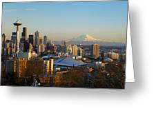 Seattle Cityscape Greeting Card