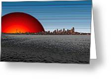 Seattle Dawning 2 Greeting Card