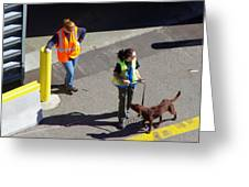 Seattle Dock Dog Workers 1 Greeting Card