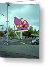 Seattle - Elephant Car Wash 2 Greeting Card