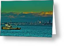 Seattle Evening Greeting Card