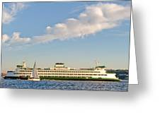 Seattle Ferry Boat Greeting Card