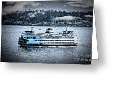 Seattle Ferry Greeting Card