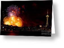 Seattle Fireworks Greeting Card