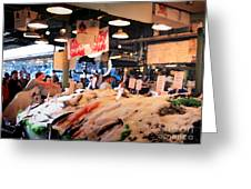 Seattle Fish Throw Pike St Market Greeting Card