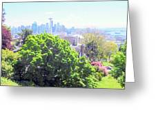 Seattle From A Hill Greeting Card
