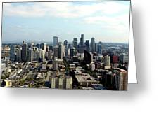 Seattle From Above Greeting Card