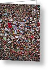 Seattle Gum Wall #2 Greeting Card
