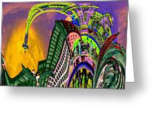 Seattle In Daliland Greeting Card