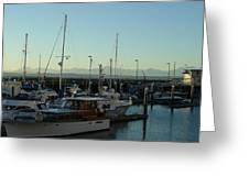 Seattle Marina Greeting Card