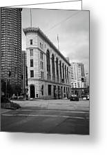 Seattle - Misty Architecture 2 Bw Greeting Card