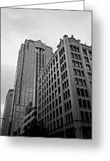 Seattle - Misty Architecture 3 Bw Greeting Card