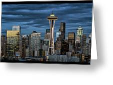 Seattle Night Greeting Card