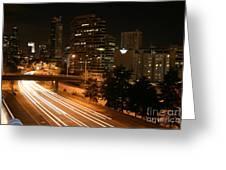 Seattle Night Time Greeting Card