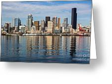 Seattle Reflection Greeting Card