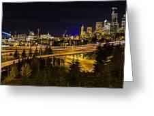 Seattle Rush Greeting Card