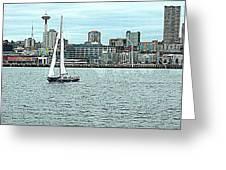 Seattle Sail Greeting Card