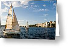 Seattle Silos Sail Greeting Card