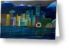 Seattle Skyiline Greeting Card