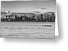 Seattle Skyline 3 Greeting Card